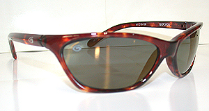 Sunglasses with a brown frame