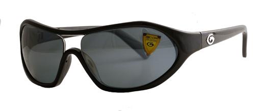 Black round edged frame with dark grey lenses