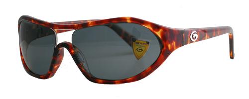 Light brown round edged frame with dark grey lenses