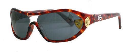 Dark grey lenses with light brown frames