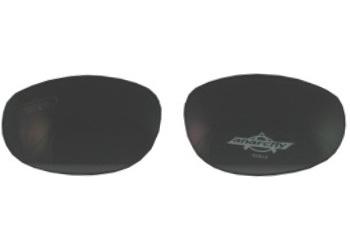Smoky black ballistic lenses