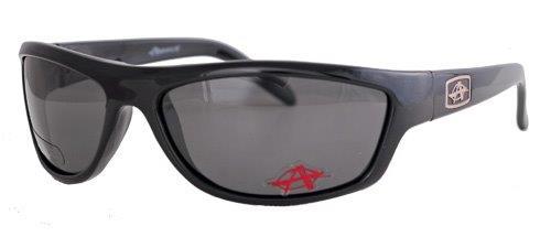 Black sunglasses with smoky polarized lenses