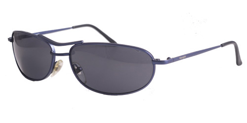 Dusty blue shades with dark blue lenses
