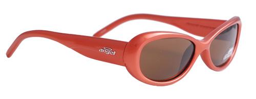 Red framed round sunglasses