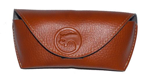 Brown Gargoyle leather eyewear bag