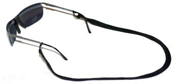 Black sunglasses with nylon retainers
