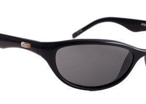 Black framed lenses