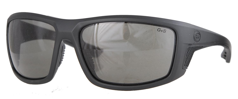 Matte black smoke sunglasses