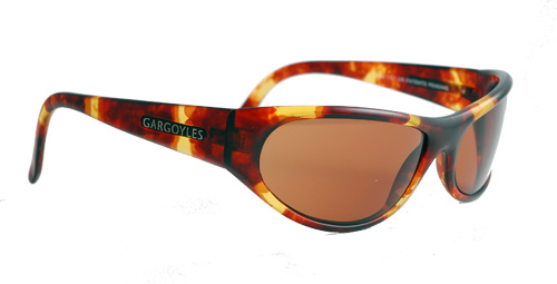 A pair of sunglasses with brown designs