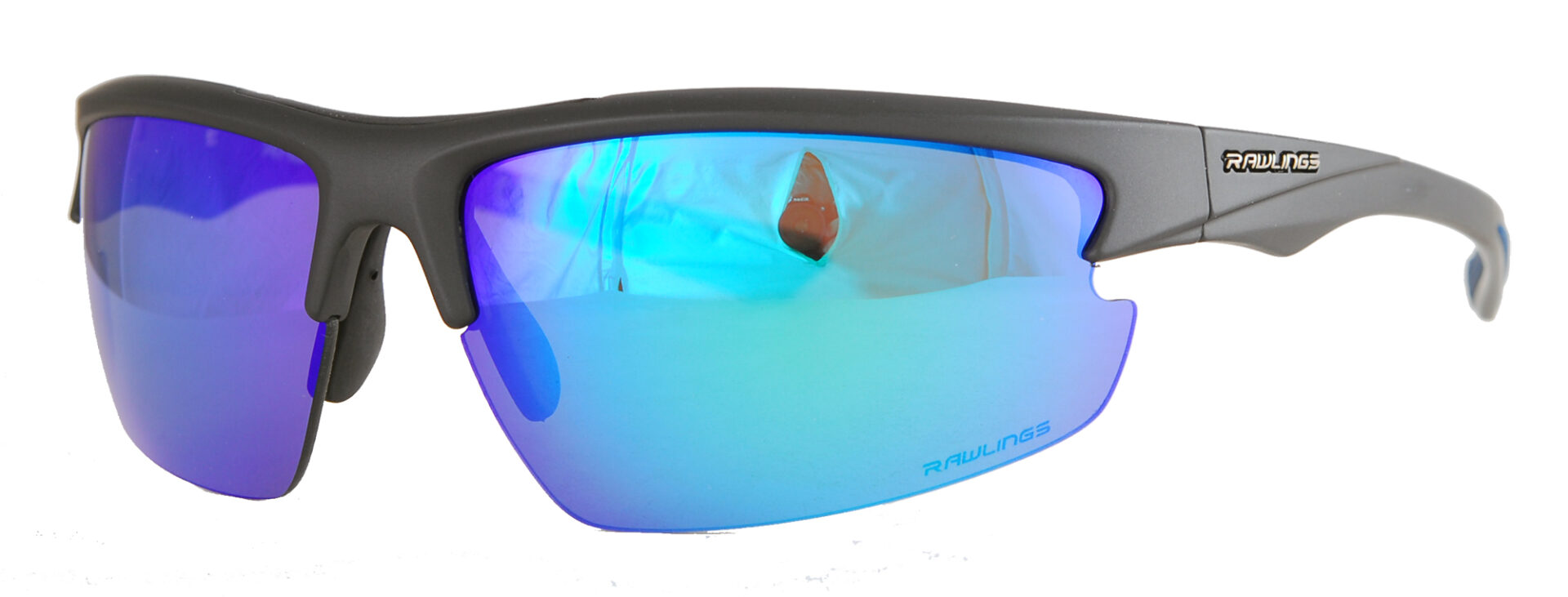 Sunglasses with blue lens