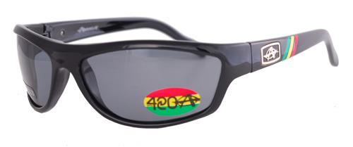 Black shades with smoky polarized lenses