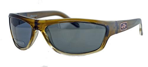 Olive shades with polarized grey lenses