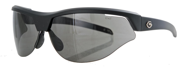Matt black framed smoked sunglasses