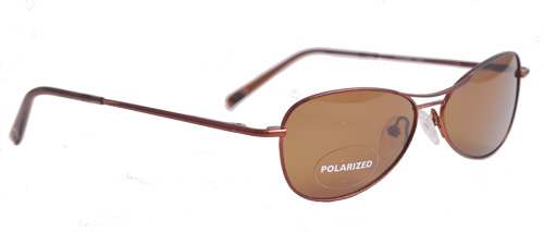 Brown polarized shades with thin frames
