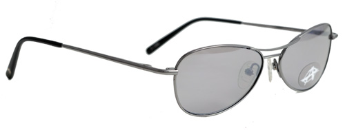 Grey sunglasses with thin frames