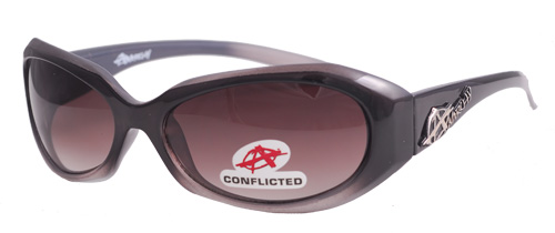 Faded grey shades with brown gradient lenses