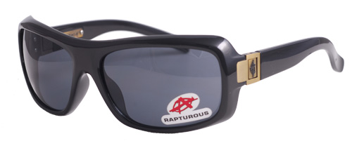 Black shades with gold buckles