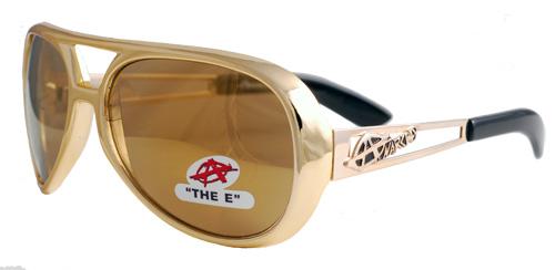 Large gold sunglasses