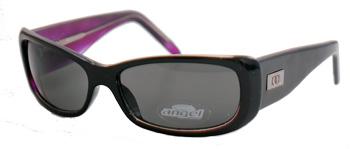 Black-framed sunglasses with grey lens