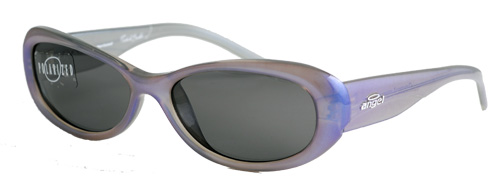 Foxy blue opal framed sunglasses with grey lenses