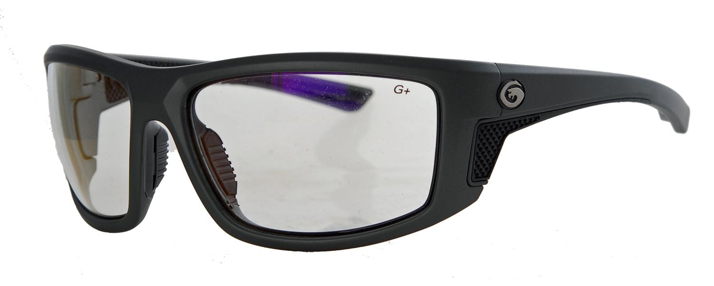 Matte framed metallic graphite clear sunglasses