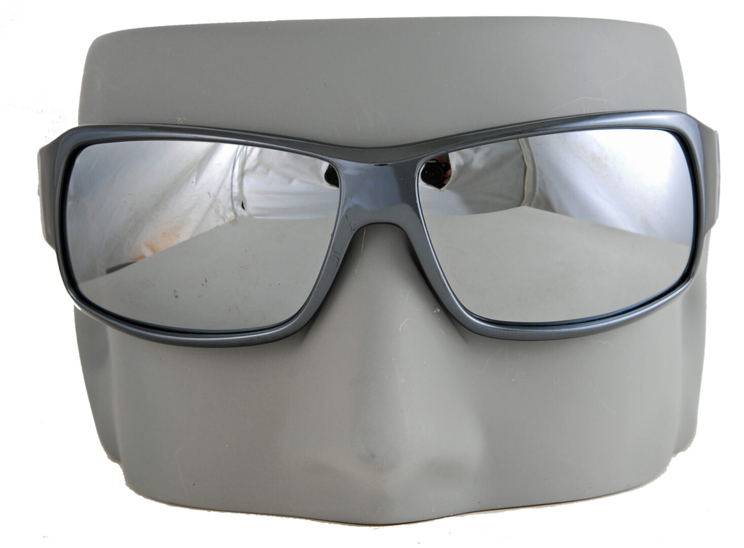 Dark silver shades with reflective lenses